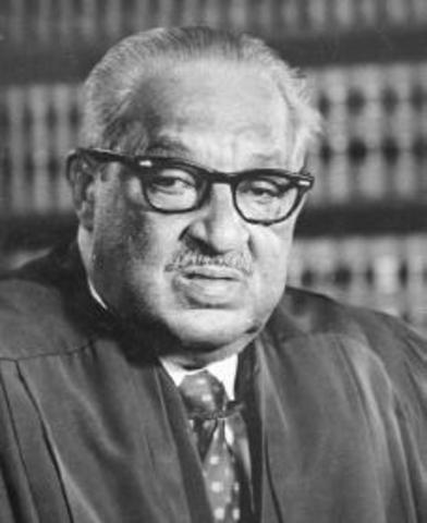 Thurgood Marshall appointed to U.S. Supreme Court