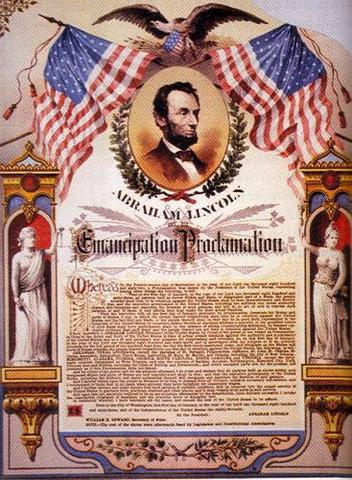 Abraham Lincoln issues Emancipation Proclamation