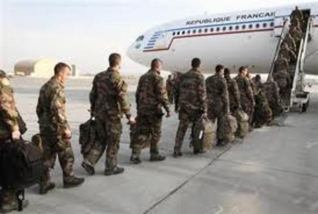 troops leave