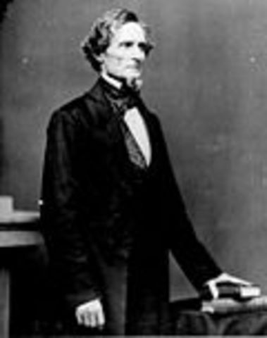 Jefferson Davis becomes president of the Confederate States