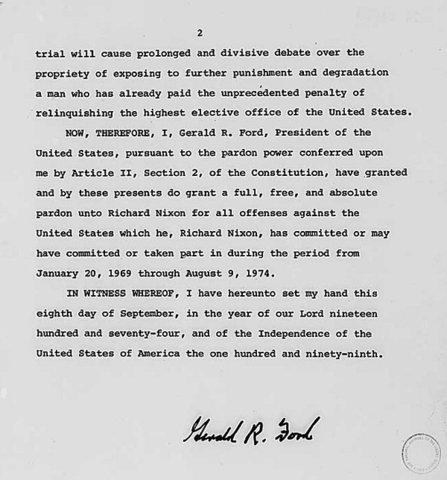 Ford grants Nixon