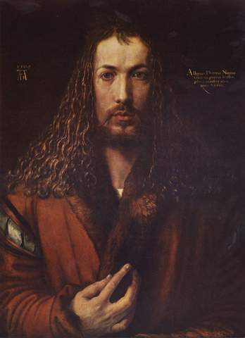 Albrecht Dürer - Autoportrait à la fourrure