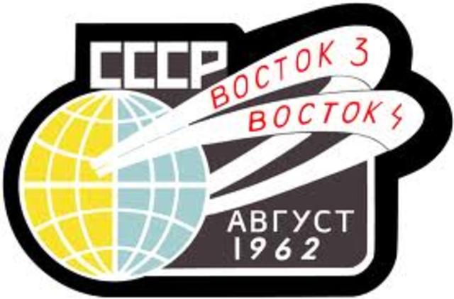 Soviets Launch Vostok 3 & 4