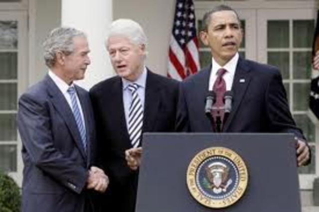 President Obama officially enlists former presidents Clinton and George W. Bush to lead an ongoing American effort to help Haiti recover.