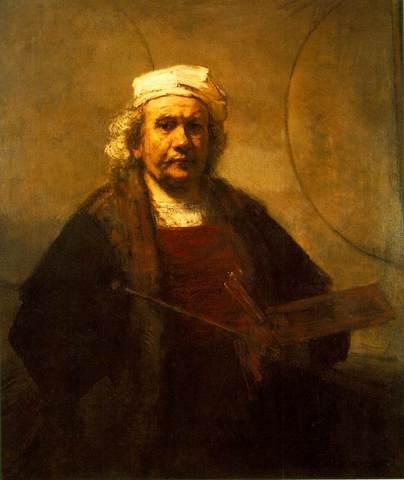 Rembrandt - Autoportrait aux deux cercles