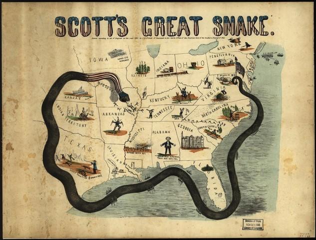 Lincoln blocades the south