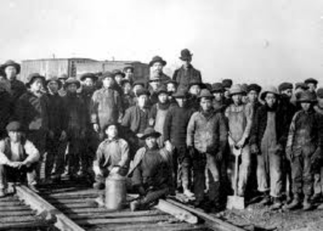 Railroad Construction is in Full Swing