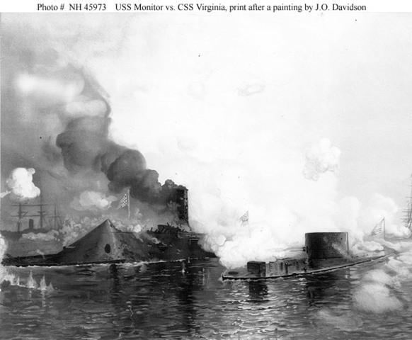 Monitor vs. Virginia Naval Battle