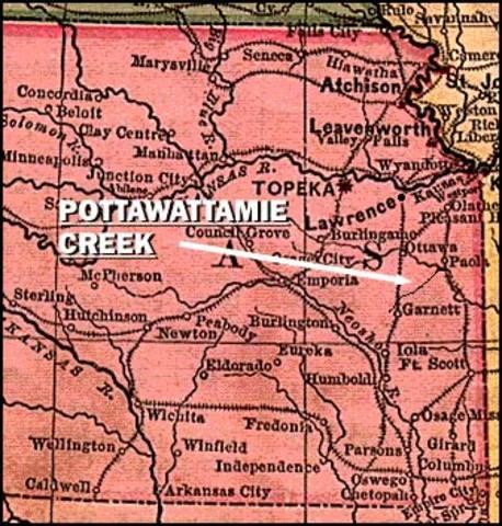 John Brown invades Pottawatomie, Kansas