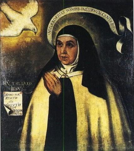 Santa Teresa escribe Vida de Santa Teresa de Jesús