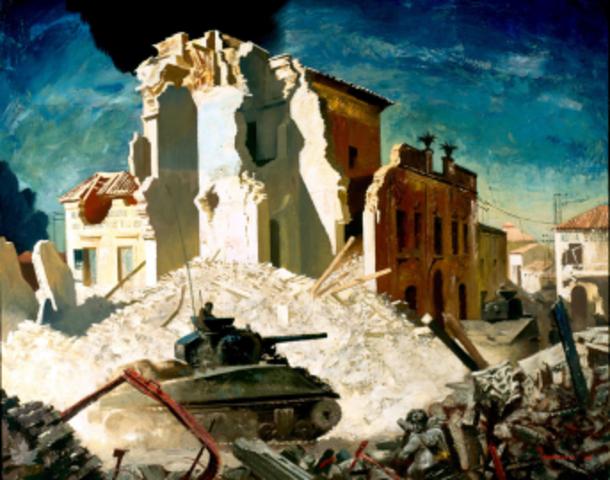 The Battle of Ortona, Italy