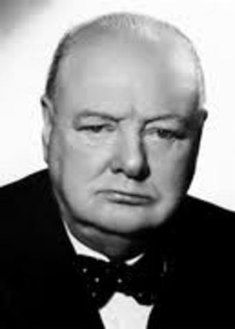 Winston Churchill declared Prime Minister