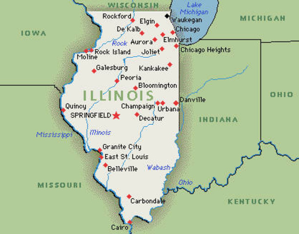 Lincoln Family moves to Illinois
