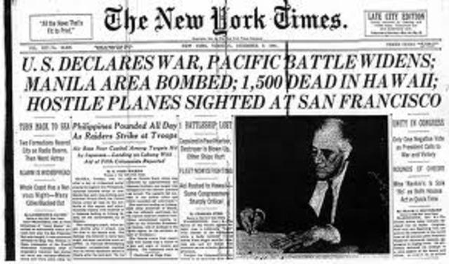 Declared War Against Japan