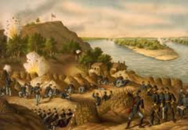 Union began attacking Vicksburg