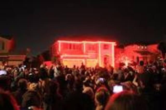 Halloween house light show