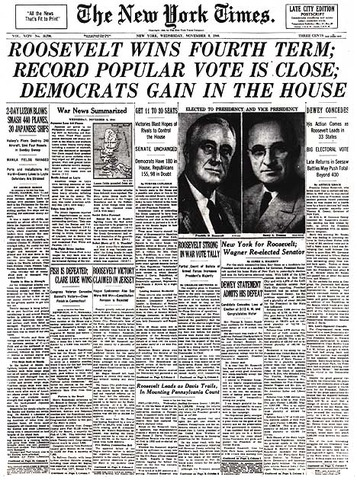 Election of 1944--FDR's Final Term