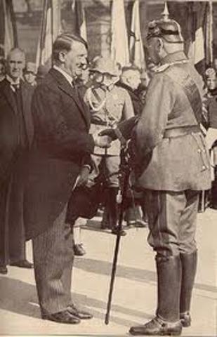 President Paul von Hindenburg appointed Hitler Chancellor