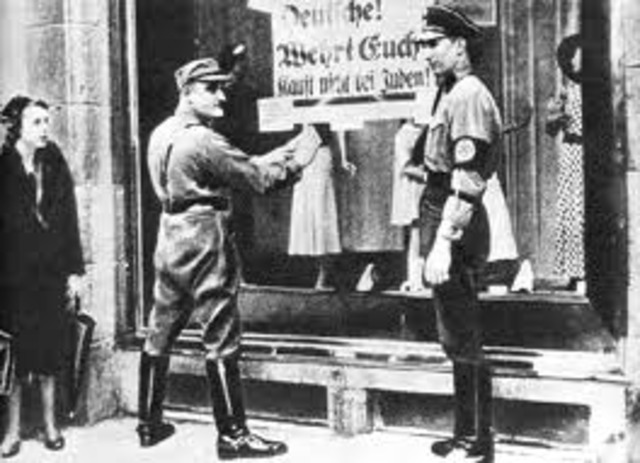 Nazi Boycott Jewish Owned Shops/ Burn Book In Germany[May 10]
