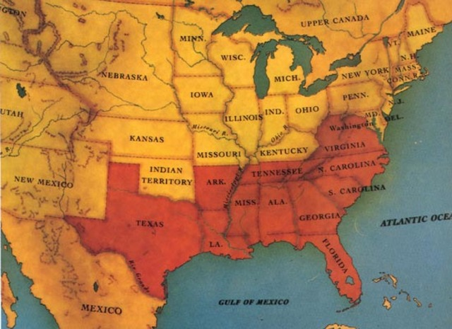 The Confederate States of America are formed