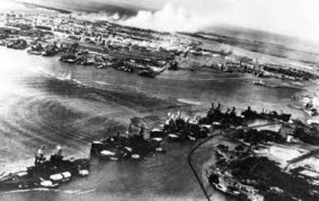 The United States declares war on Japan, entering World War II.