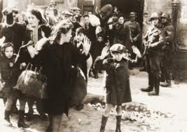 Warsaw Uprising in occupied Poland, the largest ever civilian revolt in history, by the Polish population against the Nazis. [August- September]