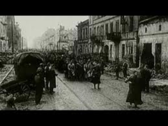 The Soviets liberate Warsaw and Krakow in Poland.