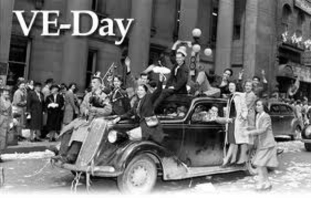 Winston Churchill announces VE Day - Victory in Europe.