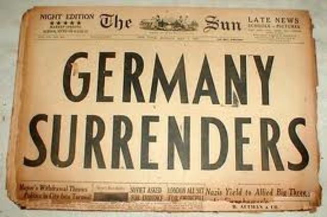 Germany surrenders to the Soviets