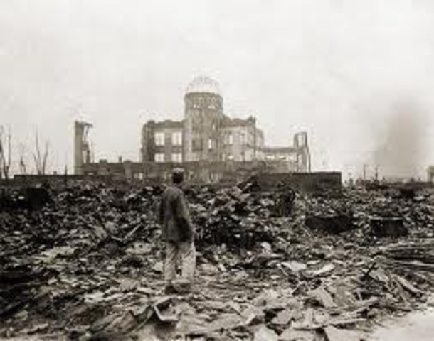 The first atomic bomb is dropped by The United States