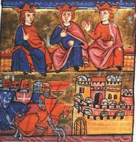 2nd Crusade Involved( Louis VII of France, Conrad III of Germany,  Pope Eugene III)
