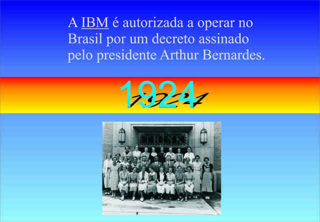 A IBM é autorizada a funcionar no Brasil