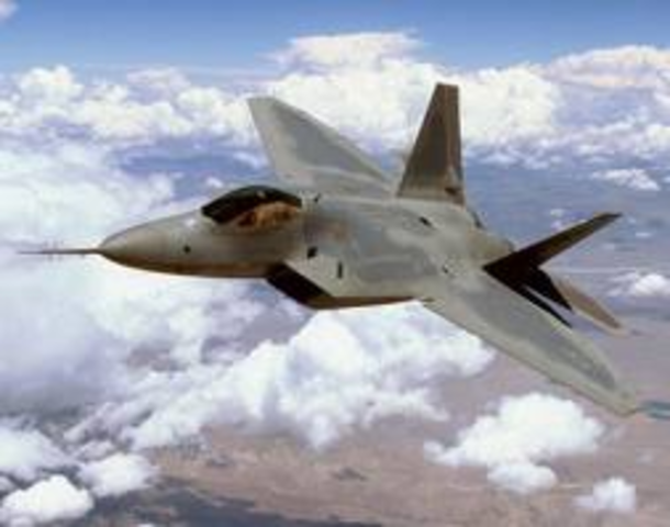 F-22 takes flight