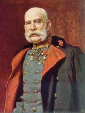 Emperor Franz Joseph of Austria-Hungary declares war on Serbia and Russia