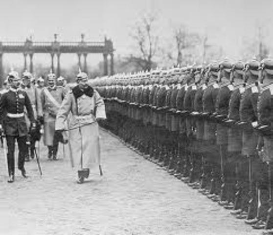 Kaiser William II promises German support for Austria against Ser