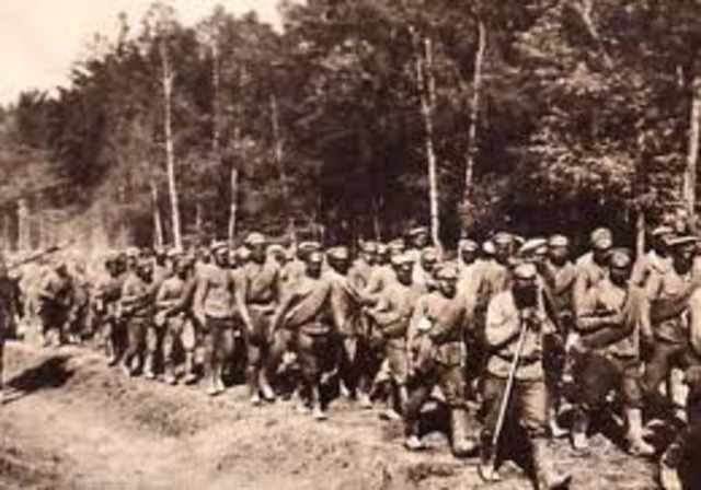 Official outbreak of World War 1. Germany declares war on Russia