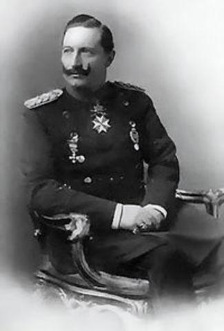Kaiser William II promises German support for Austria against Serbia.