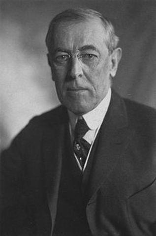 U.S President Wilson appeals for neutrality.