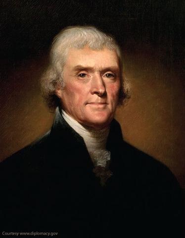 Thomas Jefferson takes oath of office