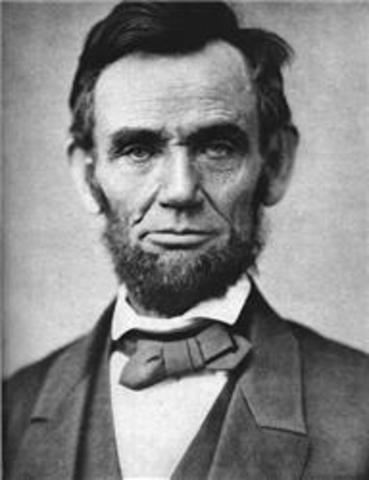 Lincoln becoms presadent