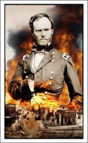 Sherman burns Atlanta