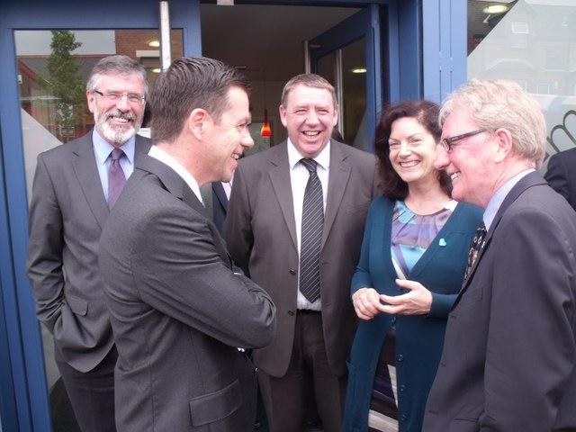 British Prime Minister Tony Blair meets with a Sinn Fein delegation