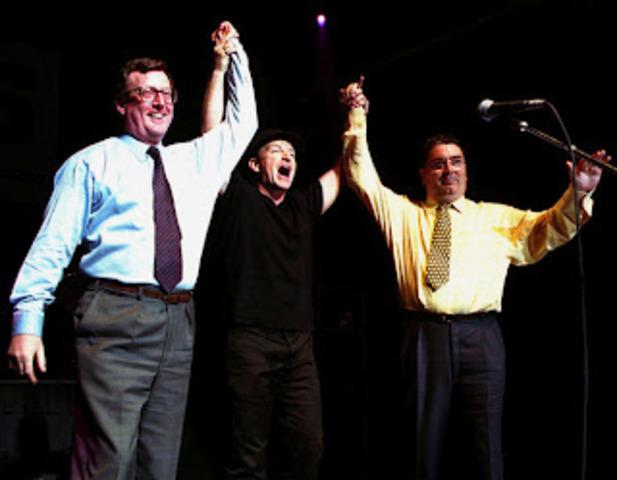 David Trimble and John Hume win the Nobel Peace Prize