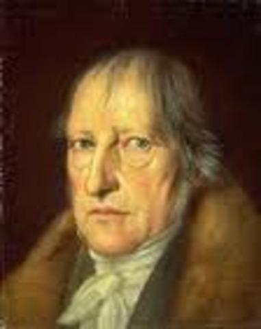 En el idealismo Alemán. Hegel