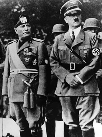 Hitler and Mussolini Meet On The Austrian Border