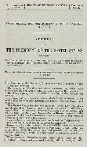 Truman Doctrine created