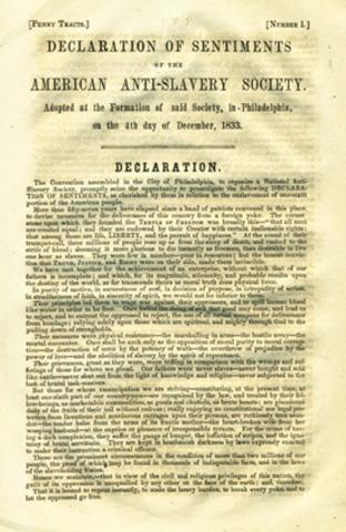 The American Antislavery Society forms