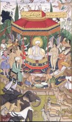 Akbar ascended the Mughal throne