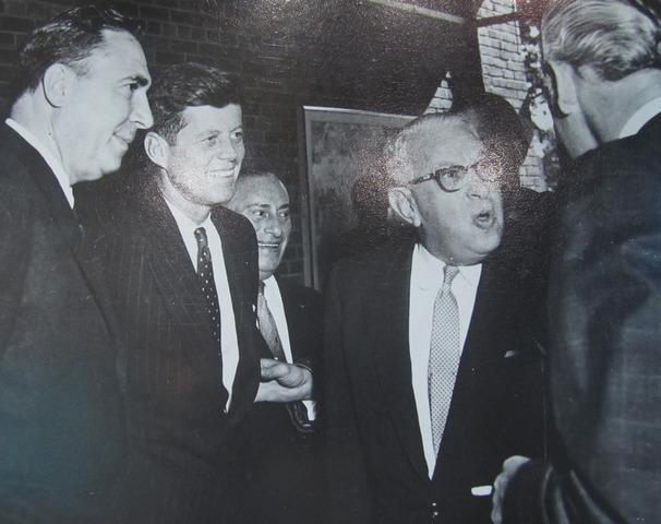 United Nations dignitaries meet at Rancho Lilac home of Ambassador Irving Saloman.