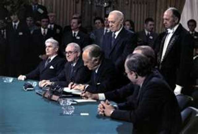 The Paris Peace Accords are Signed